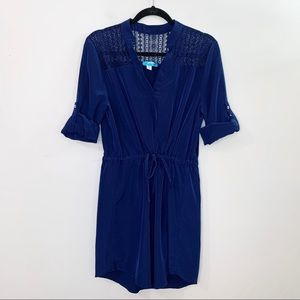 FRANCESCAS COLLECTIONS Royal Blue Dress Lace Panel